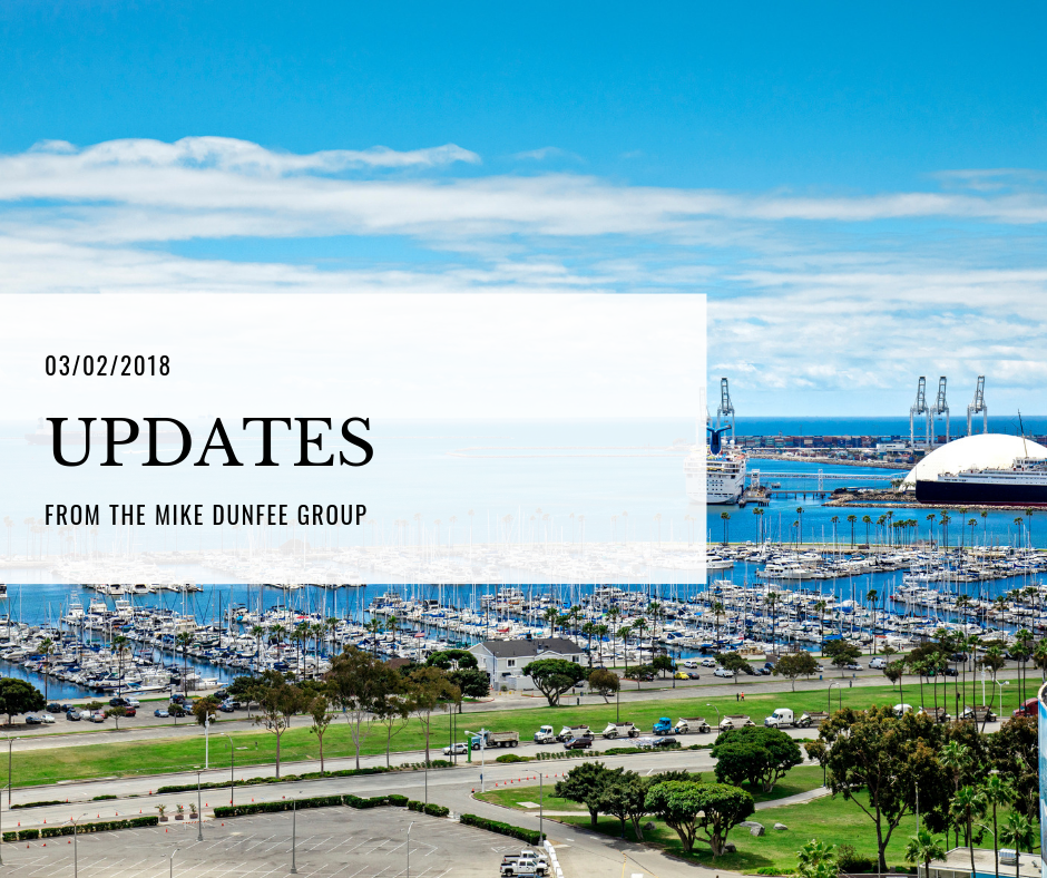 03/02/2018 - Updates from the Mike Dunfee Group