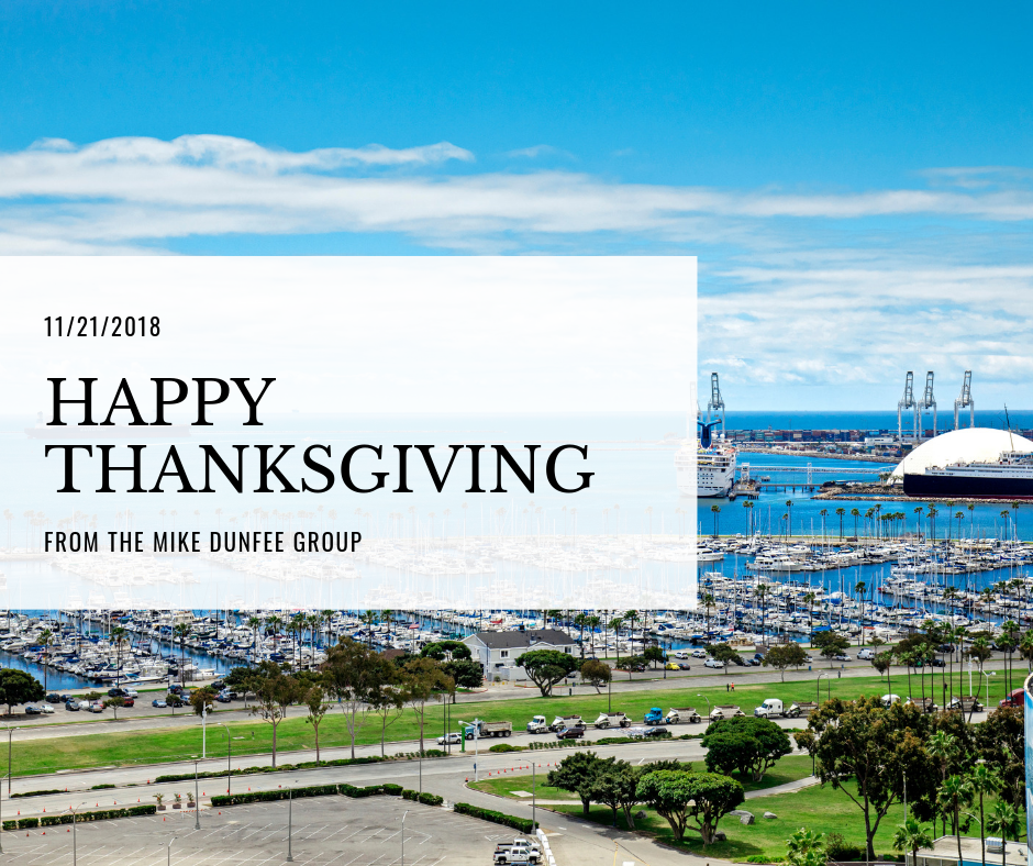 11/21/2018 - Happy Thanksgiving from the Mike Dunfee Group