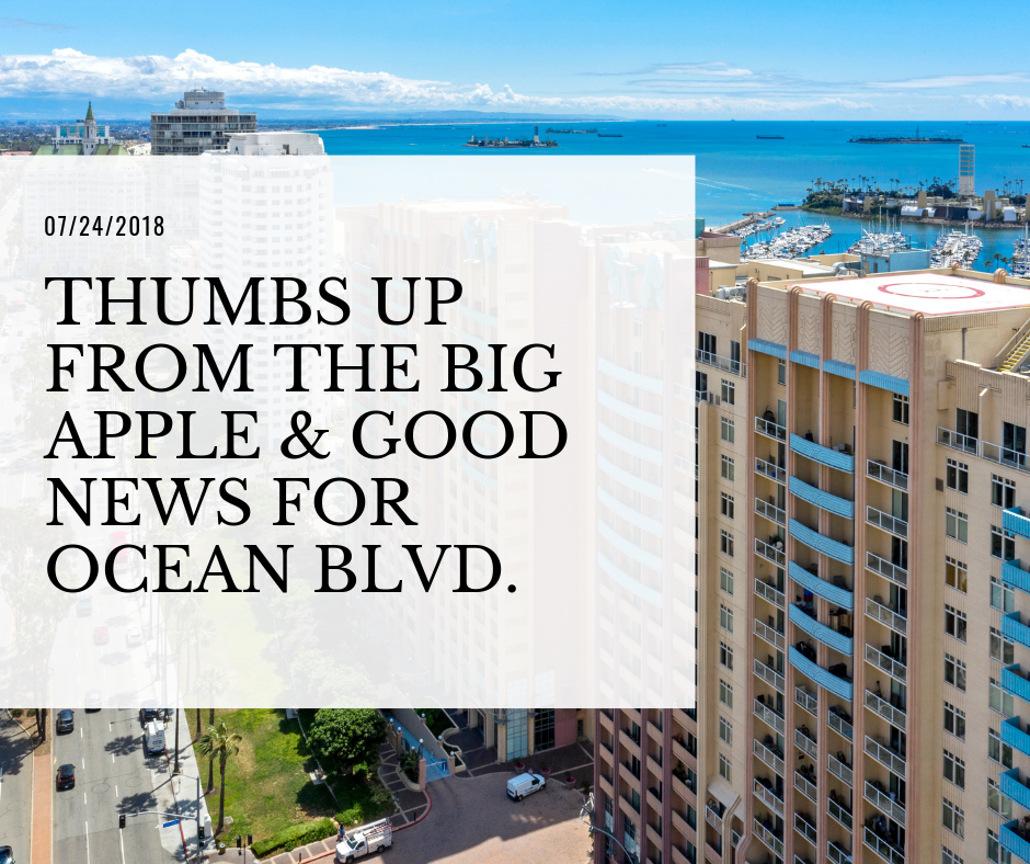 07/24/2018 - Thumbs up from the Big Apple & Good News for Ocean Blvd